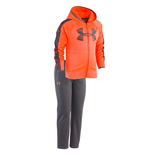Toddler Boy Under Armour Logo Zip Hoodie & Pants Set