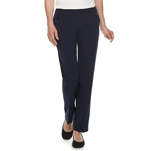 Women's Croft & Barrow® Pull-On Straight-Leg Dress Pants