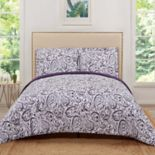 Truly Soft Watercolor Paisley Quilt Set