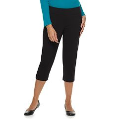 Women's Croft & Barrow® Polished Pull-On Twill Capris