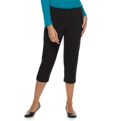 Women's Croft & Barrow® Polished Pull-On Twill Capris