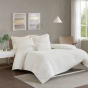 Urban Habitat Ellie Cotton Chenille Jacquard 4-piece Duvet Cover Set