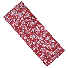 Celebrate Valentine's Day Together Hearts Tapestry Table Runner - 36'