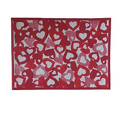 Celebrate Valentine's Day Together Hearts Tapestry Placemat