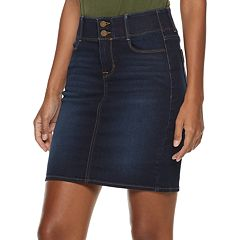 Women's Apt. 9® Tummy Control Denim Skirt
