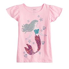 Girls 4-12 SONOMA Goods for Life™ Flip-Sequin Graphic Tee