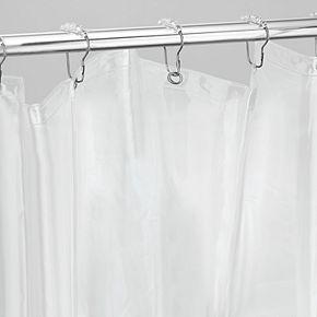 Interdesign Extra Wide Vinyl Bathroom Shower Curtain Liner & Rings