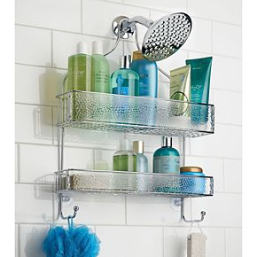Interdesign Rain Wide Bathroom Shower Caddy
