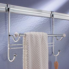 Interdesign York Over the Bathroom Shower Door Towel Rack