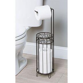 Interdesign Free-Standing Bathroom Toilet Paper Roll Storage & Dispenser