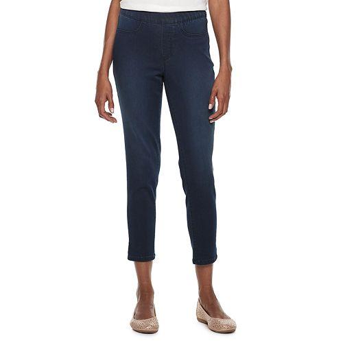 Women's Croft & Barrow® Pull-On Ankle Jeans