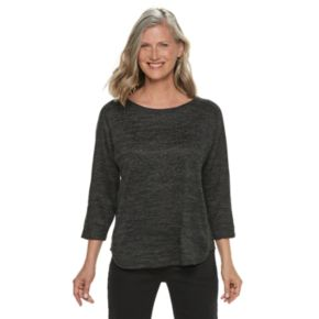 Women's Cathy Daniels Embellished Space-Dyed Top