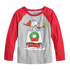 Boys 4-12 Jumping Beans® Peanuts Snoopy Holiday Raglan Graphic Tee