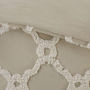 Madison Park Nollie Cotton Chenille Geometric 3-piece Comforter Set