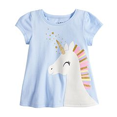 Baby Girl Jumping Beans® Short-Sleeve Graphic Swing Top