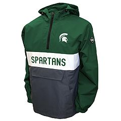 Men's Franchise Club Michigan State Spartans Alpha Anorak Pullover