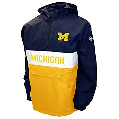Men's Franchise Club Michigan Wolverines Alpha Anorak Pullover