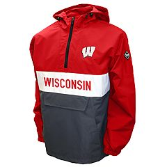 Men's Franchise Club Wisconsin Badgers Alpha Anorak Pullover