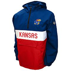 Men's Franchise Club Kansas Jayhawks Alpha Anorak Pullover