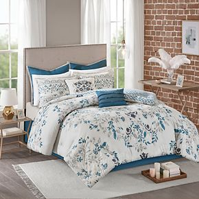 Madison Park Melora 8-piece Cotton Printed Reversible Comforter Set