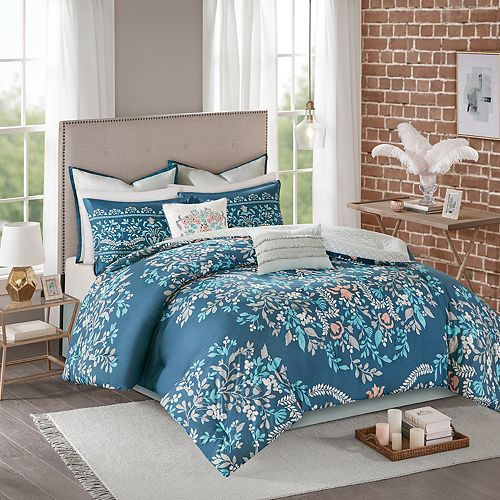 Madison Park Melora 8-piece Cotton Printed Reversible Comforter Set