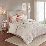 Madison Park Evelyn 8-piece Cotton Printed Reversible Comforter Set