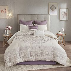 Madison Park Evelyn 8-piece Cotton Printed Reversible Comforter Set