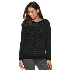 Women's Dana Buchman Crewneck Chenille Lurex Sweater