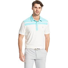 Men's IZOD Title Holder SwingFlex Striped Performance Golf Polo