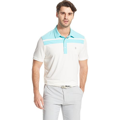 Men's IZOD Title Holder SwingFlex Striped Performance Golf Polo