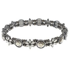 Simulated Crystal Stretch Bracelet