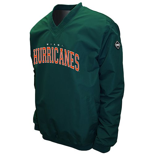 Men's Franchise Club Miami Hurricanes Windshell Pullover
