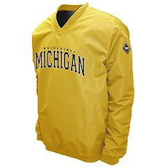 Men's Franchise Club Michigan Wolverines Windshell Pullover
