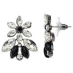 Simulated Crystal Cluster Earrings