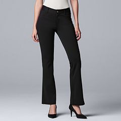 Petite Simply Vera Vera Wang Everyday Luxury Ponte Bootcut Pants
