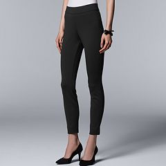 Petite Simply Vera Vera Wang Everyday Luxury Pull-On Ponte High-Waisted Skinny Pants