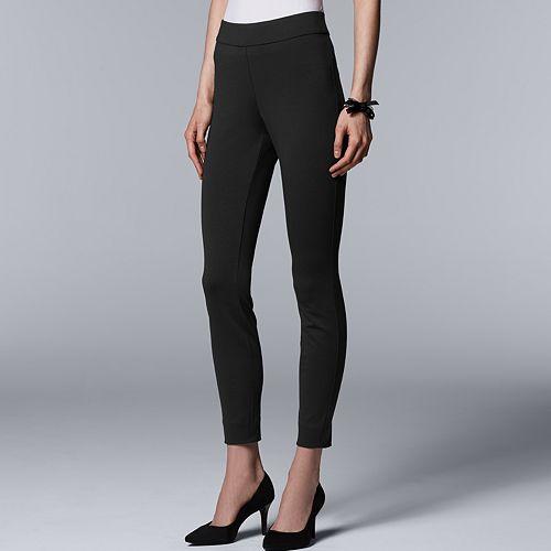 Petite Simply Vera Vera Wang Everyday Luxury Pull-On Ponte High-Waisted Skinny Pants