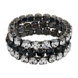 Simulated Crystal Stretch Bracelet Set