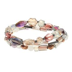 Multi Colored Bead Stretch Bracelet Set