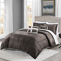 Deals on True North Mink to Sherpa Comforter Set Twin 4pc