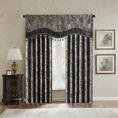 Madison Park Wellington Beaded Jacquard Window Valance