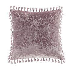 Intelligent Design Ariana Tassel Crushed Velvet Throw Pillow
