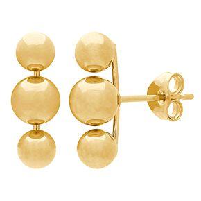 Everlasting Gold 14k Gold Multi-Ball Stud Earrings
