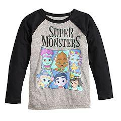 Boys 4-12 Jumping Beans® 'Super Monsters' Raglan Graphic Tee