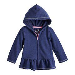 Baby Girl Jumping Beans® Peplum-Hem Hoodie