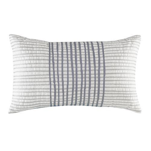 INK+IVY Cotton Embroidered Oblong Throw Pillow