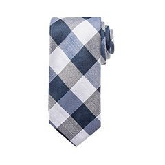 Men's Chaps Hayden Checked Linen-Blend Tie