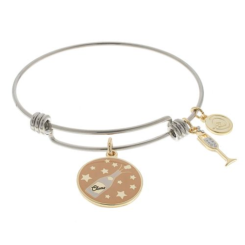 """love this life """"I'll Be There in a Prosecco"""" Charm Bangle Bracelet"""