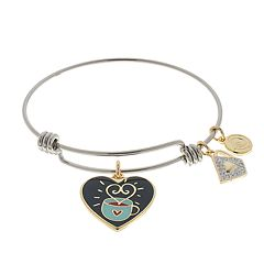 love this life 'Coffee is a Hug in a Mug' Charm Bangle Bracelet