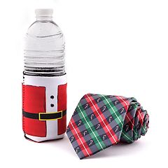 Men's Noel Holiday Tie & Drink Holder Set